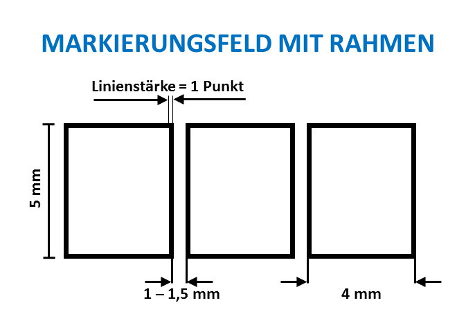 Markierungsfeld mit Rahmen