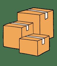 Kartons als Symbol für größere Mengen an Waren